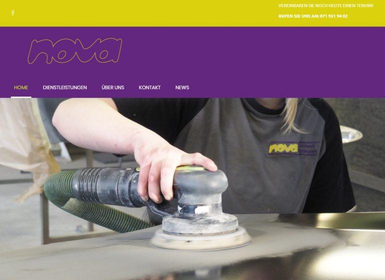 Nova Spritzwerk mit neuer Webseite
